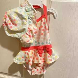 Gymboree one-piece with matching Hat